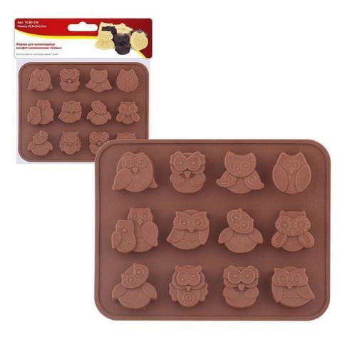 Форма для шоколадных конфет силиконовая