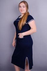 Эрика. Женское платье больших размеров. Синий.
