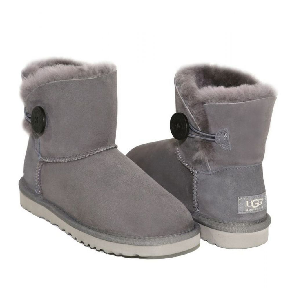 УГГИ MINI BAILEY BUTTON GREY 7122W