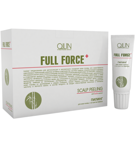 OLLIN full force пилинг для кожи головы с экстрактом бамбука 6штх15мл