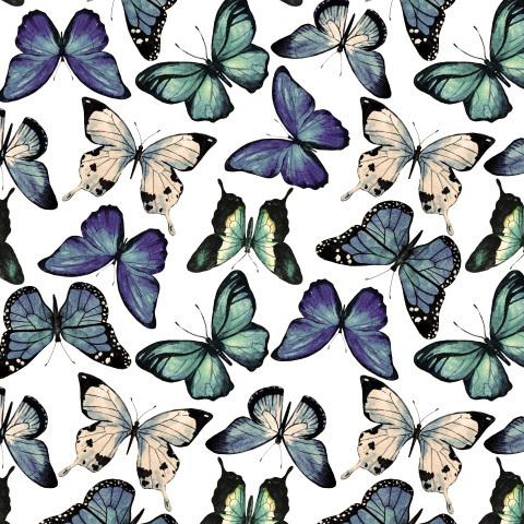 Бабочки (ретро цвета)