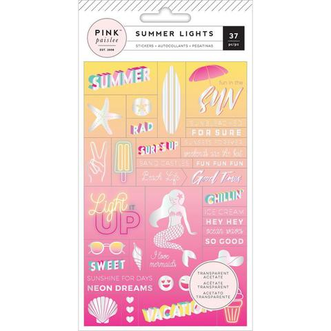 Стикеры Summer Lights - Pink Paislee  11х17см 37 шт.