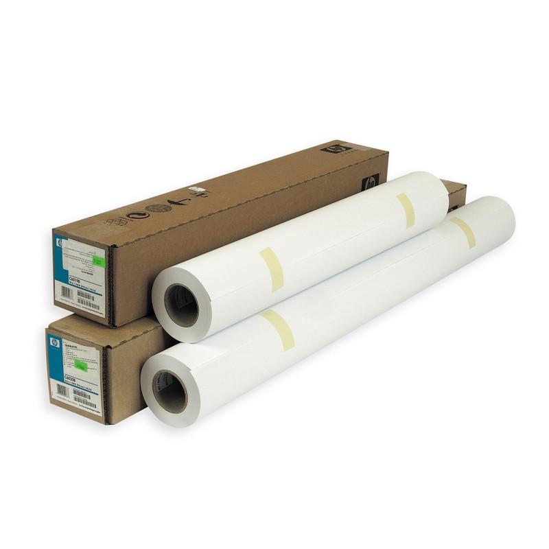 Бумага широкоформатная HP Bright White InkJet (длина 45.7 м, ширина 610 мм, плотность 90 г/кв.м, белизна 166% CIE, диаметр втулки 50,8 мм)