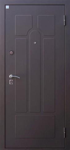 Дверь входная Опал 2 стальная, беленый дуб, 2 замка, фабрика Алмаз