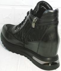 Ботинки сникерсы женские Evromoda 965 Black