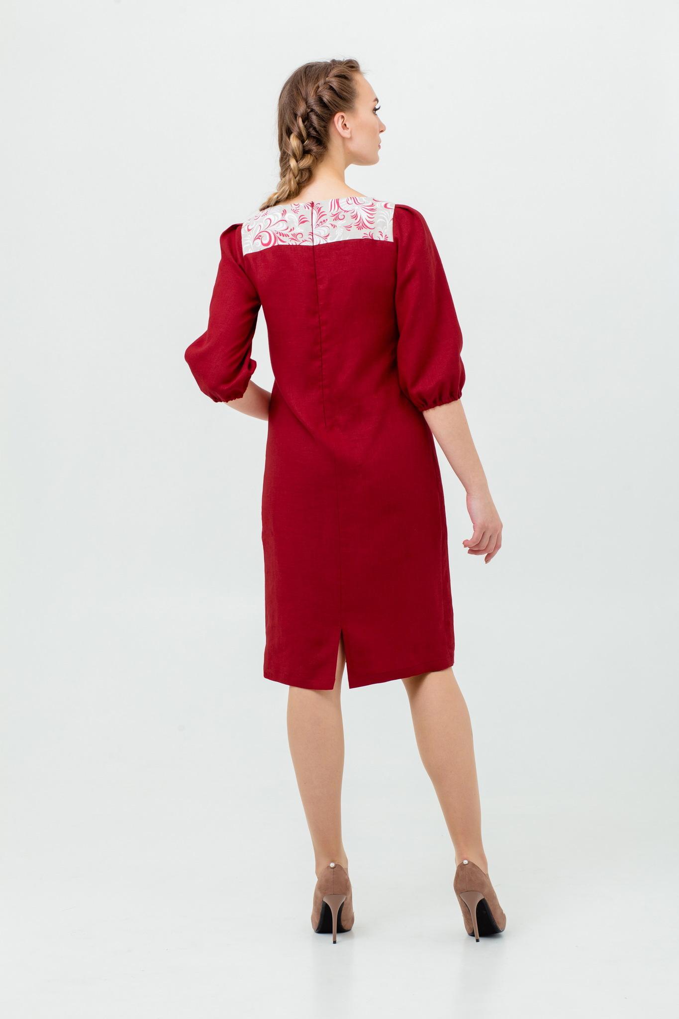 Платье в русском стиле Сладкая брусника