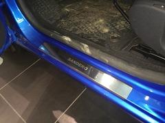 Накладки на пороги Renault Sandero Stepway (2010-2014)