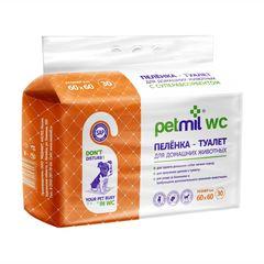 Petmil WC Пеленка 30 шт подстилка впитывающая 60x60 см