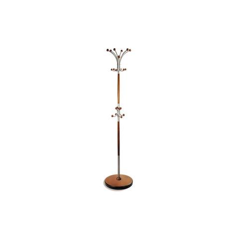 Вешалка напольная Д-1 на 6 персон металлик/средне-коричневый