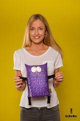 Подушка-игрушка антистресс «Теплый кот», фиолетовый 2