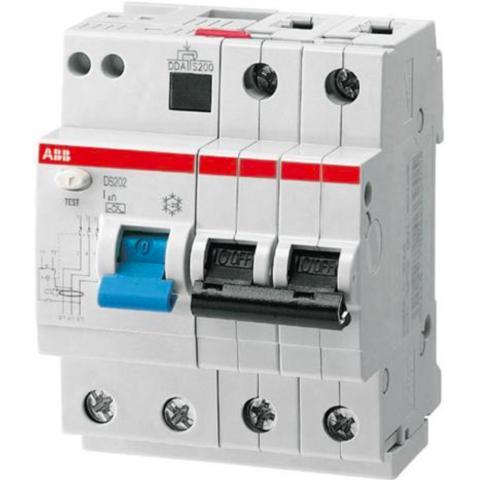 Дифф. автомат. выключатель 2-полюсный 13 А, тип AC (перемен.), 10 кА DS202 M AC-B13/0,03. ABB. 2CSR272001R1135