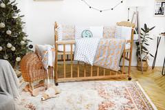 Комплект постельного белья для новорожденных с защитой-бортиками Верона Лисички