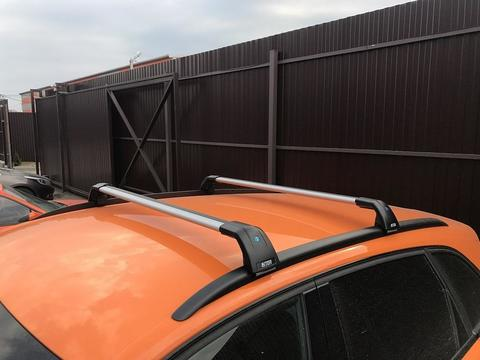 Багажник Inter AEROSTAR АЭРОСТАР R-76i серебристый на низкие рейлинги