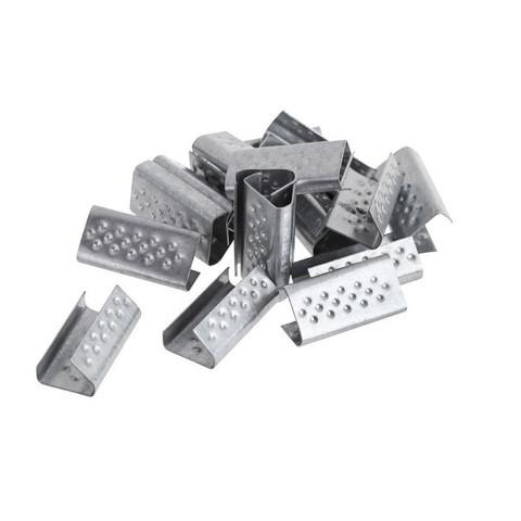Скобы металлические для полипропиленовой стреппинг-ленты шириной 12 мм (1000 штук в упаковке)