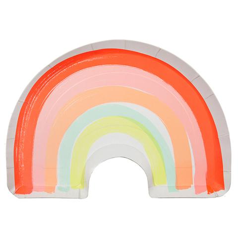 Тарелки в форме радуги