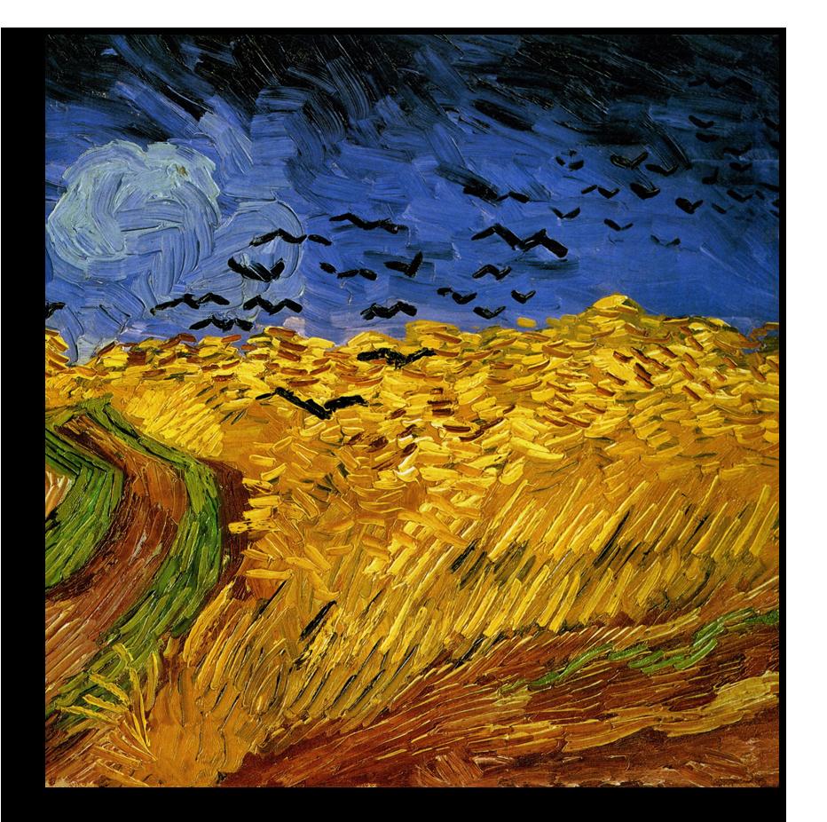 """Ван Гог Репродукция """"Ван Гог - Вороны на пшеничном поле"""" Х47.png"""