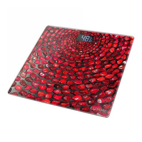 Весы напольные сенсор LUMME LU-1329 {new} красный коралл