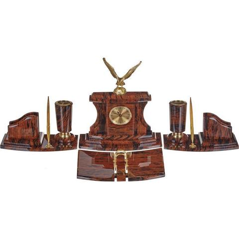 Набор настольный Империал обсидиановый 6 предметов светло-коричневый