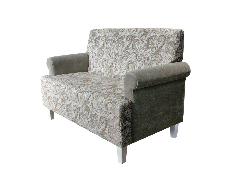 диван 2-местный Клерк, комбинированная обивка