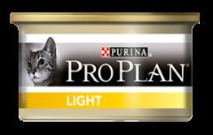 Консервы Purina Pro Plan LIGHT для кошек с индейкой, низкокалорийный