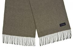Шерстяной шарф, мужской хаки 31401