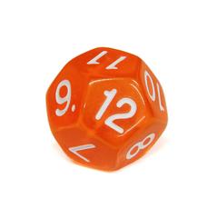 Куб D12 прозрачный: Оранжевый