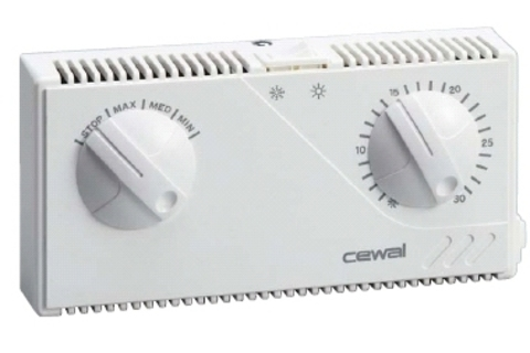 Комнатный термостат для фан-койлов CEWAL FT21
