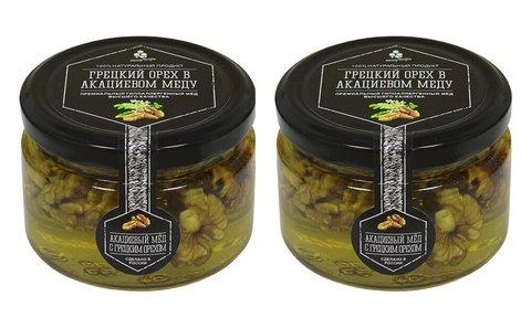 Набор (2 шт.) грецкого ореха в акациевом меду, 500 г