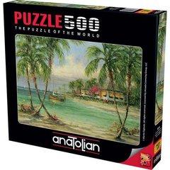 Puzzle Palmiye Manzarası. Barefoot Bungalow 500 pcs