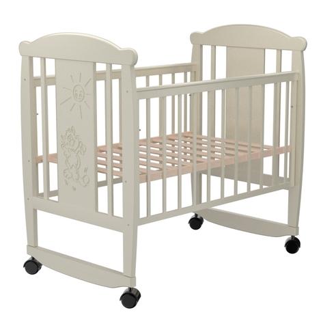 Детская кроватка Valle Cat 02 колесо-качалка б/ящ.