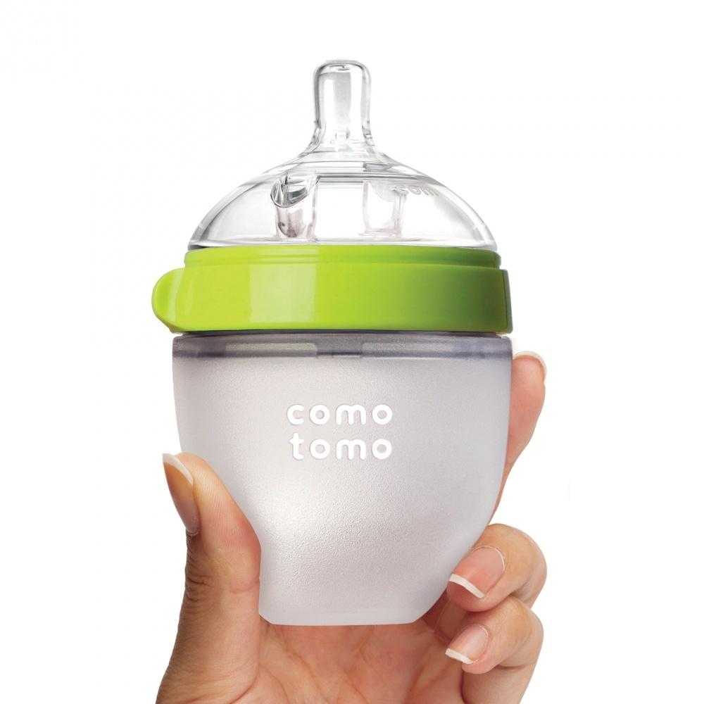 Бутылочка для кормления, цвет зеленый (150 мл.) Comotomo Natural Feel Baby Bottle