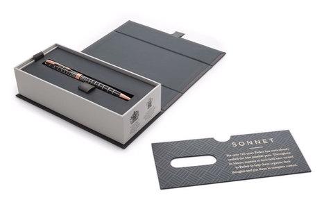 Шариковая ручка Parker Sonnet Chiselled Brown PGT123