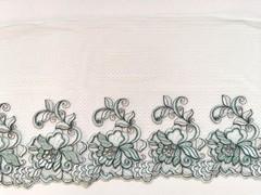 Вышивка на сетке, ПРАВАЯ, 23 см, светло-зеленый, м