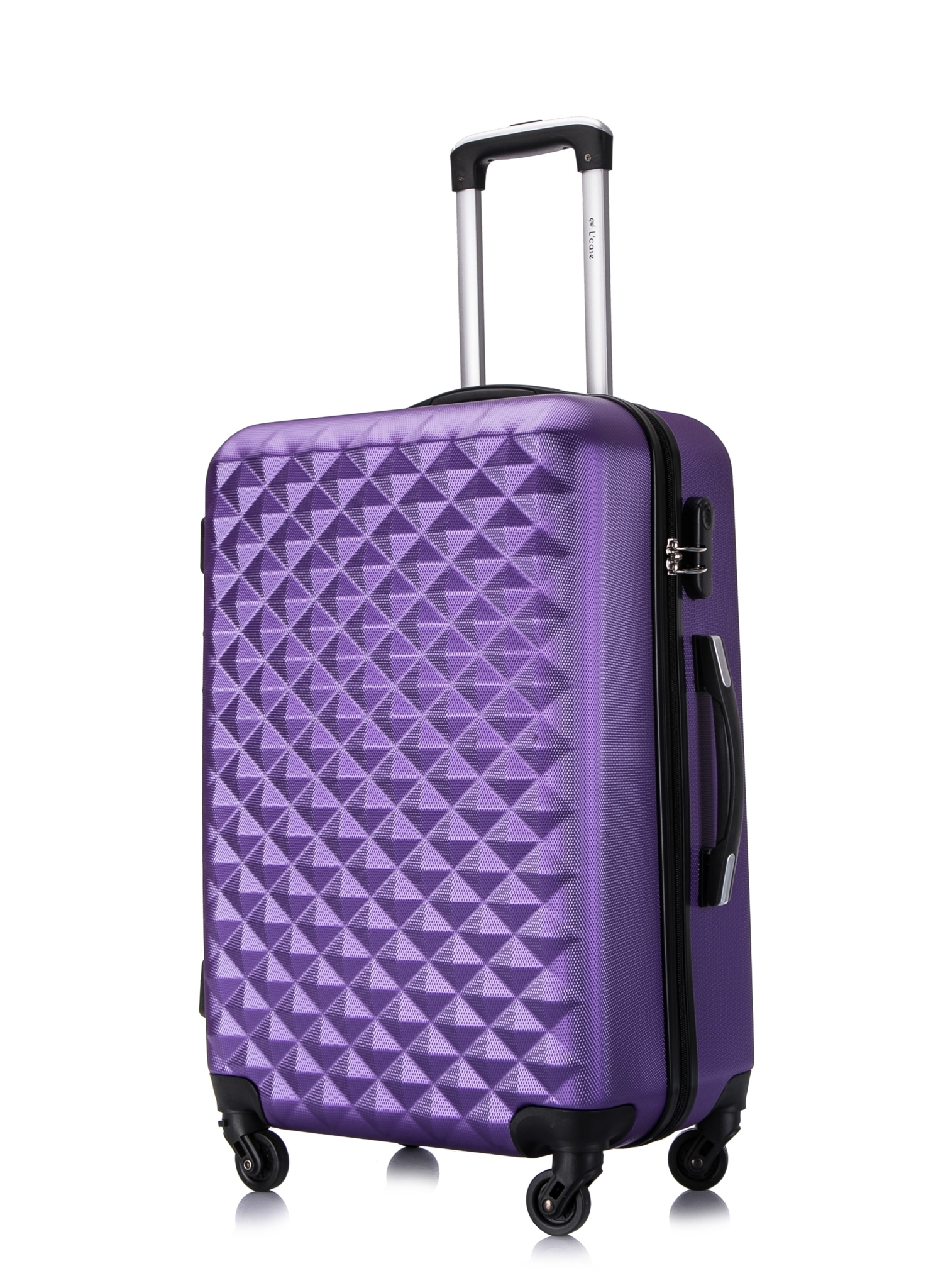 Чемодан со съемными колесами L'case Phatthaya-24 Фиолетовый (M)