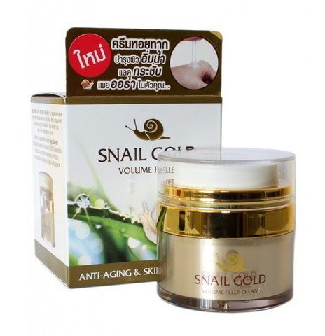 Крем для лица со слизью улитки Snail cream Gold (Тайланд) 15 гр.