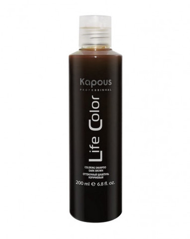 Оттеночный шампунь для волос «Life Color», коричневый, 200 мл