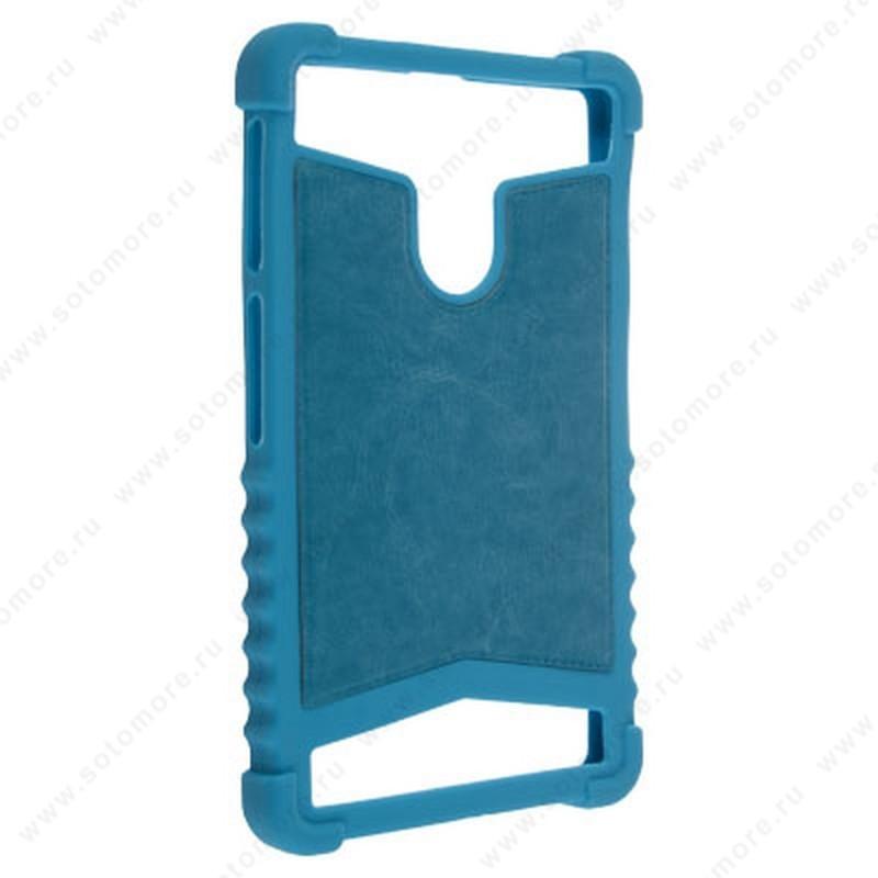 Накладка резиновая универсальная 6 дюймов голубой