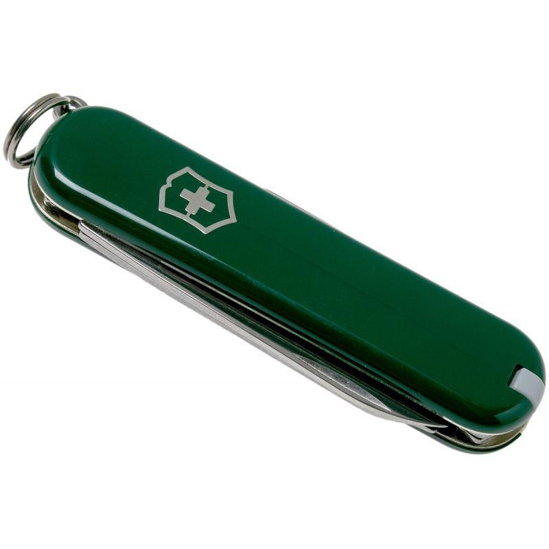 Нож-брелок Victorinox Classic Green (0.6223.4) 7 функций, 58 мм. в сложенном виде, цвет зелёный | Wenger-Victorinox.Ru