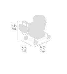 DeCuevas Коляска для куклы с рюкзаком серии Скай, 56см (86035)