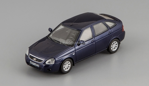 VAZ-2172 Lada Priora dark blue DIP 1:43