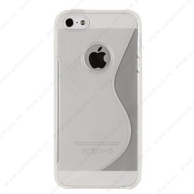 Накладка силиконовый для Apple iPhone SE/ 5s/ 5C/ 5 жесткий прозрачный