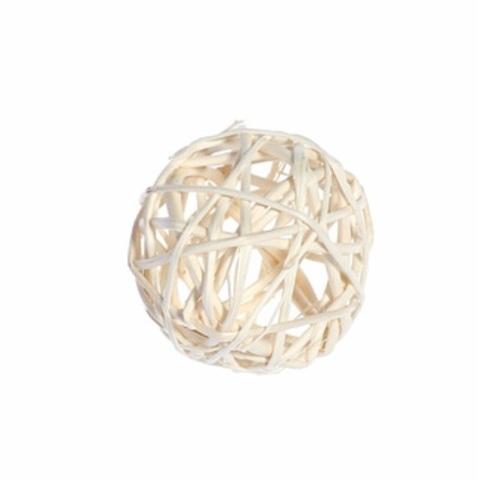 Плетеные шары из ротанга (набор:12 шт., d3 см, цвет: белый)