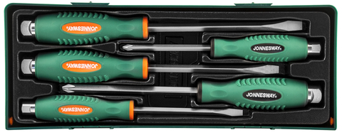 D70105SC Набор отверток стержневых ударных, силовых под ключ, в ложементе, 5 предметов