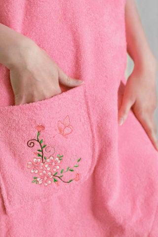 Парео  махровое женское (Розовый)