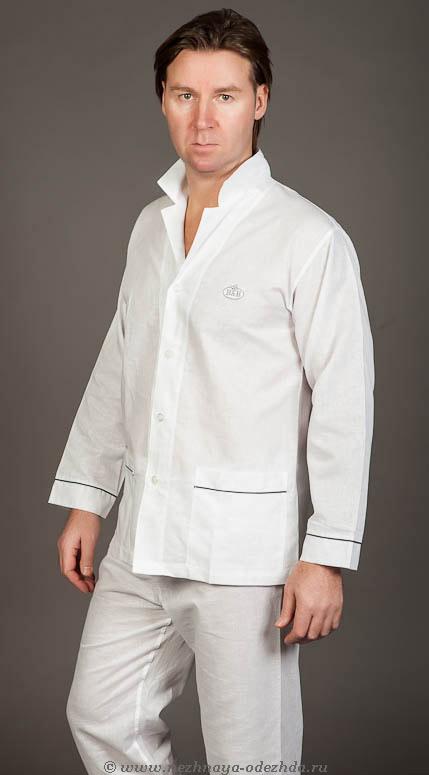 Белая пижама с добавлением льна B&B