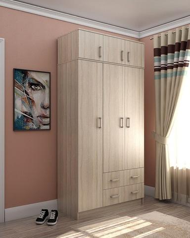 Шкаф ЭТЮД-2   3-х  створчатый с антресолью