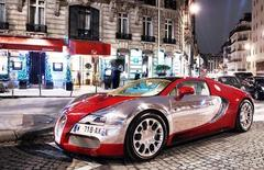 Картина раскраска по номерам 40x50 bugatti veyron