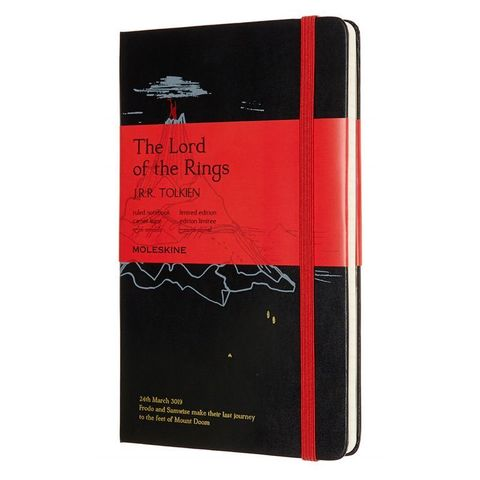 Блокнот Moleskine LIMITED EDITION LORD OF THE RINGS LELRQP060MD Large 130х210мм 240стр. линейка черный Mt. Doom