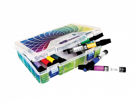 Набор маркеров CHARTPAK BASIC Plastic box, основные цвета, 12 цветов