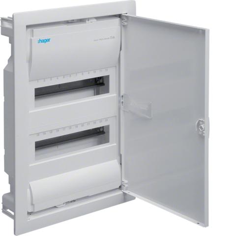 Щиток для сплошных стен,Volta,IP30,2x12М,DIN43871, глубина уст 90мм, RAL9010